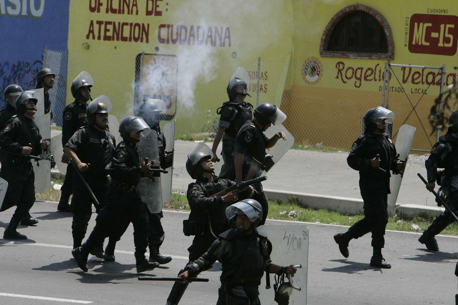 Enfrentamientos en Oaxaca
