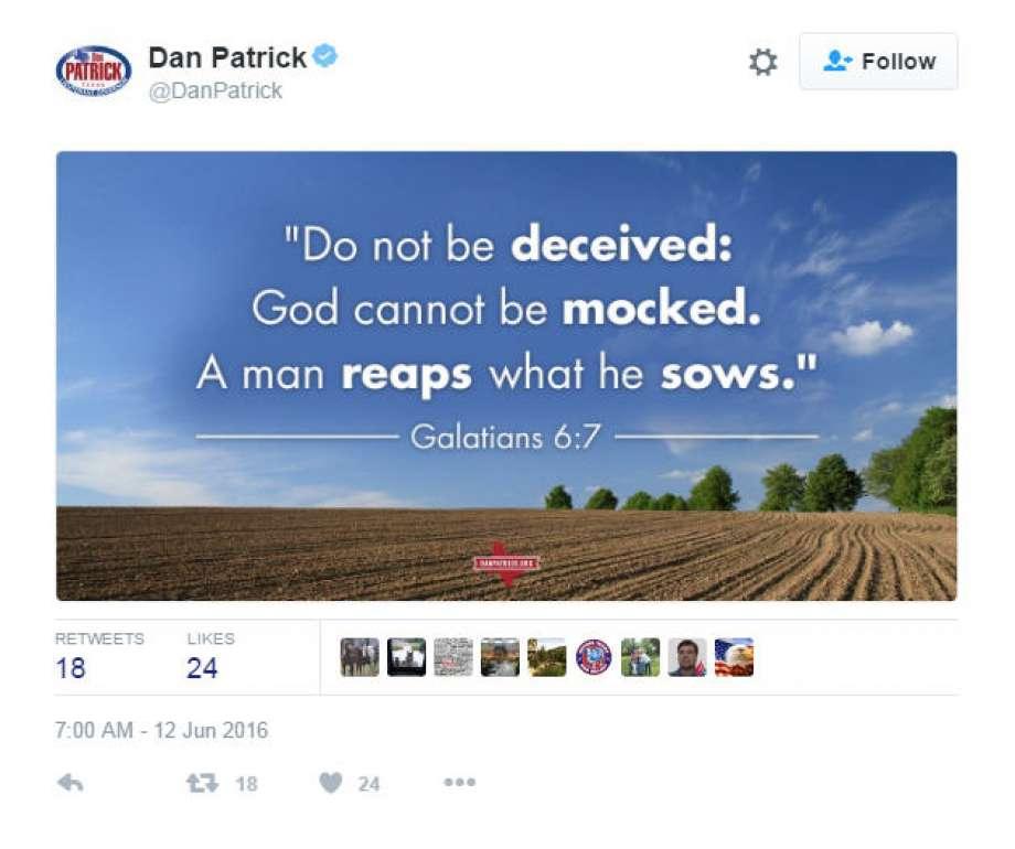 Twitter: Dan Patrick