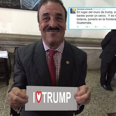 #OMG: Diputado guatemalteco es fan de Trump, y también propone un muro