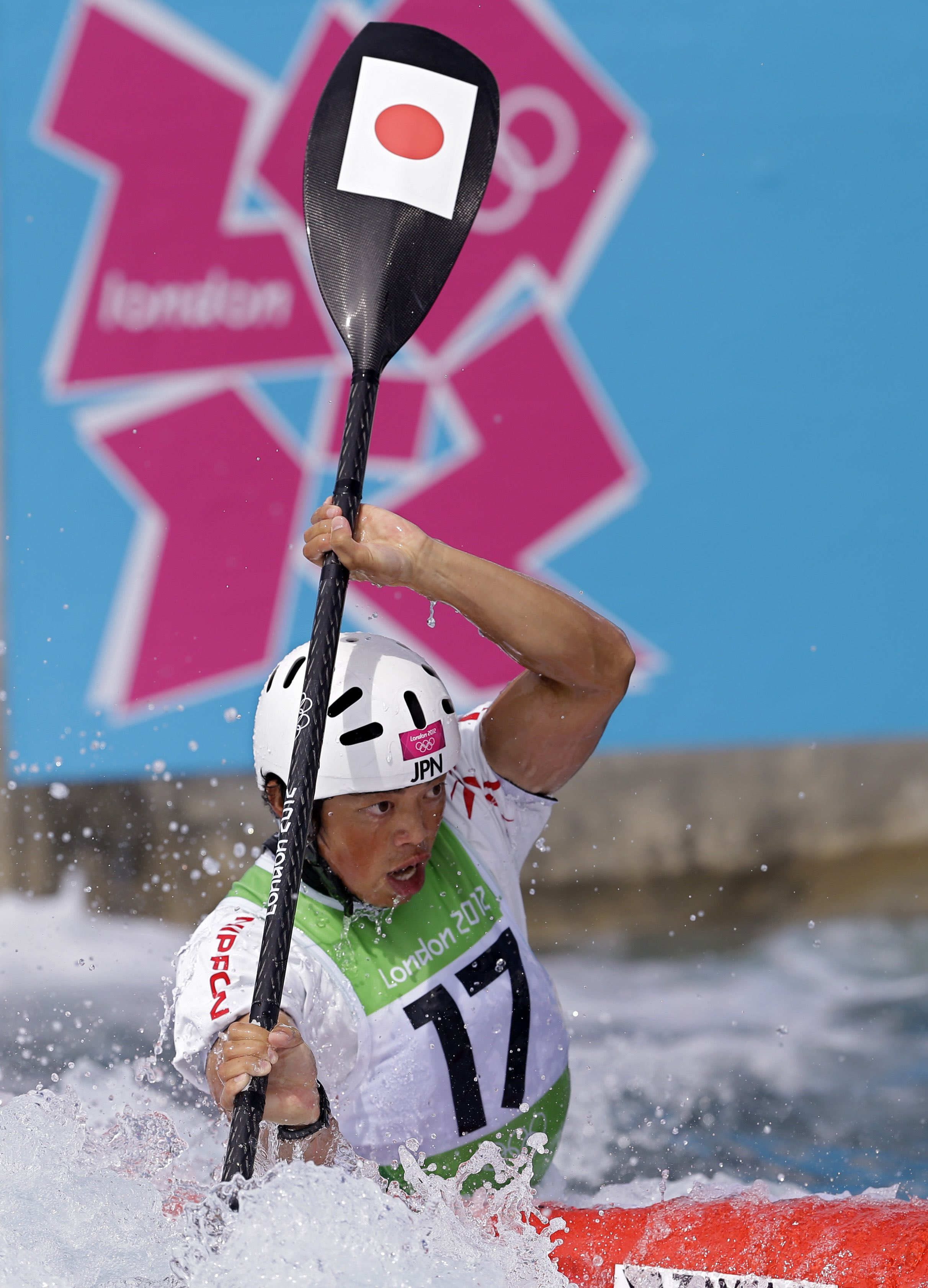 at the Lee Valley White Water Center ahead of the 2012 Summer Olympics, Sunday, July 29, 2012, in London. (AP Photo/Victor R. Caivano)