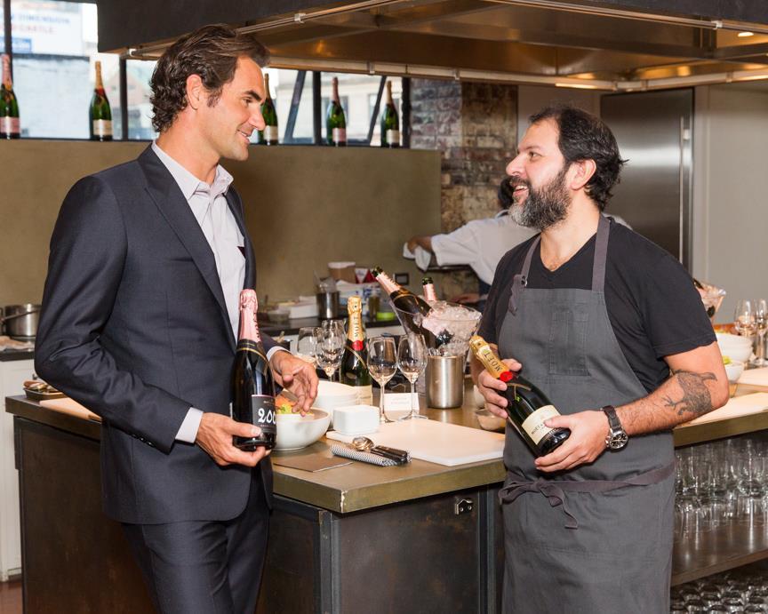 Federer y el chef mexicano Enrique Olvera