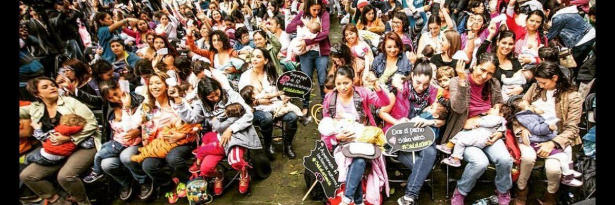 #SíALaLactancia: 115 mexicanas demuestran que la lactancia materna es lo más natural y sano