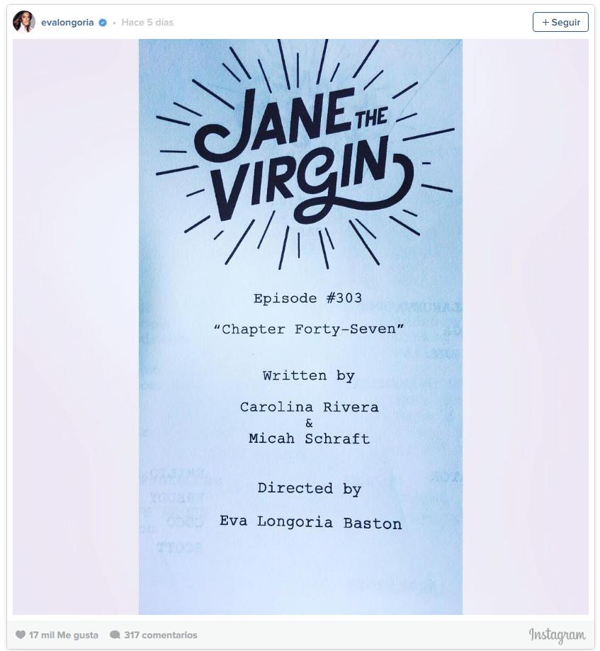 """Longoria en """"Jane the Virgin"""""""