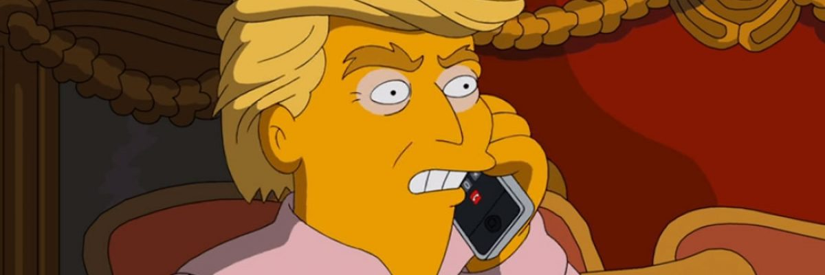 #TheSimpsons: Se burlan del terrible presidente que sería Trump