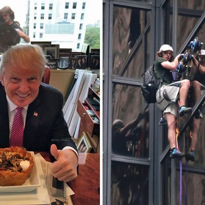 Joven escala la Trump Tower