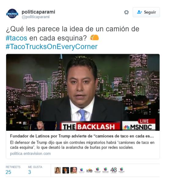 Tuit Latinos por Trump