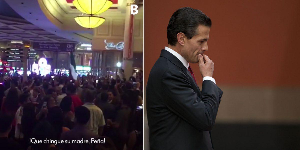 """#MentadasPatrióticas: """"¡Que chin#$% a su madre, Peña!"""", el grito que dieron en Las Vegas"""