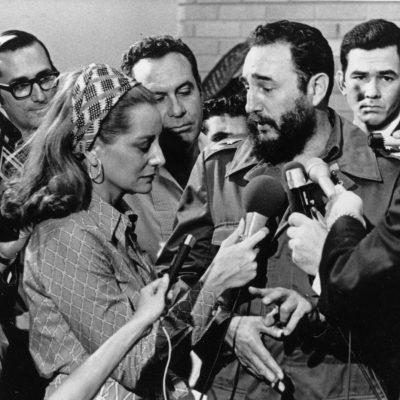 Fidel Castro con Barbara Walters