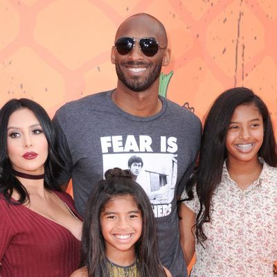 Vanessa Bryant, from left, Kobe Bryant, Gianna Bryant and Natalia Bryant arrive at the 2016 Kids' Choice Sports Awards held at UCLA's Pauley Pavilion on Thursday, July 14, 2016, in Los Angeles. (Photo by Richard Shotwell/Invision/AP)