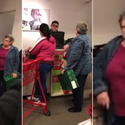 #Grinch: Anciana agrede a latina con horribles insultos racistas en centro comercial