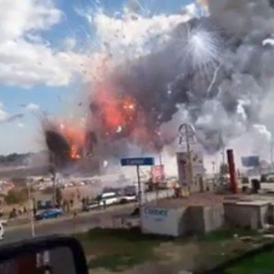 #Emergencia: Estalla mercado gigante de fuegos artificiales en México