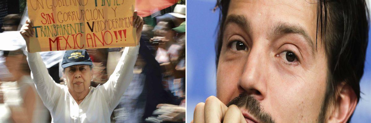 """#TomaEsta: Diego Luna explica por qué los mexicanos merecen """"algo mejor"""""""