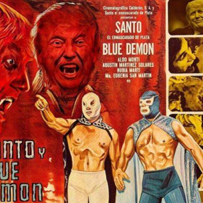 El Santo Vs. Trump: En enmascarado de plata se enfrenta al peor de los villanos
