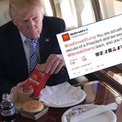 "#Hackeados:  Llaman ""asqueroso"" a Trump en el Twitter de McDonald's"