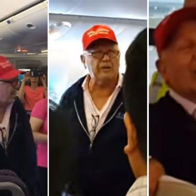 Seguidor de Trump conflicto vuelo