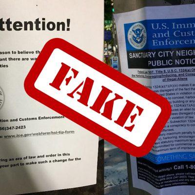 #Cobardes: Usan falsos carteles de