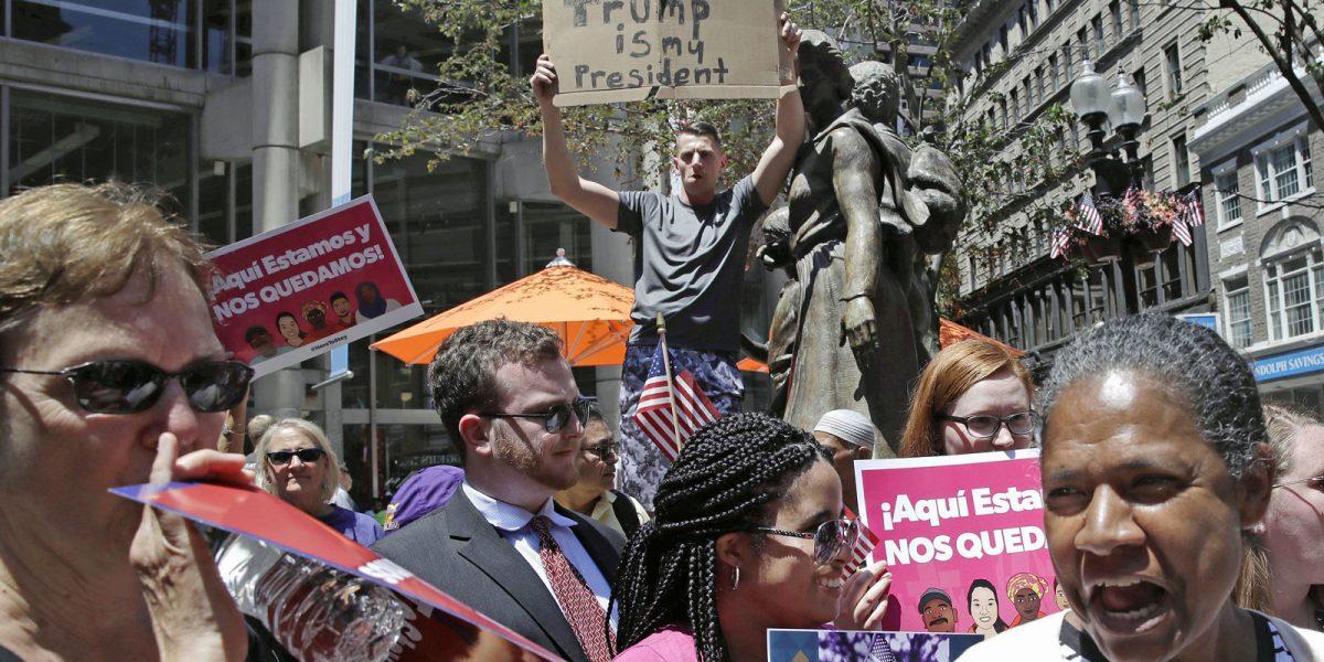 #HereToStay: Boston, unido y bello contra Trump y sus locuras antiinmigrantes