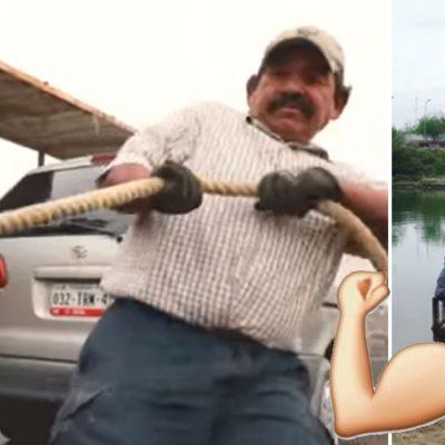 #ElChalán: Mexicanos siguen impulsando manualmente el único ferry que cruza la frontera