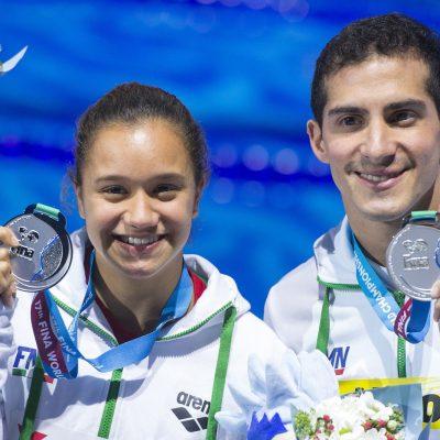 #Histórico: Cae primera medalla mundial para México en clavados mixtos