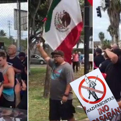 #Sáquense: Latinos corren del Chicano Park a supremacistas blancos que querían vandalizarlo