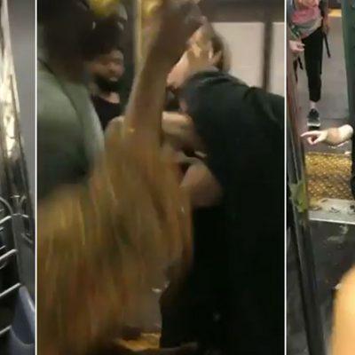 #Épico: Neoyorquinos botan del tren a un racista borracho