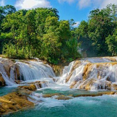 #Increíbles: Chiapanecos devuelven el agua a las Cascadas de Agua Azul con sus propias manos