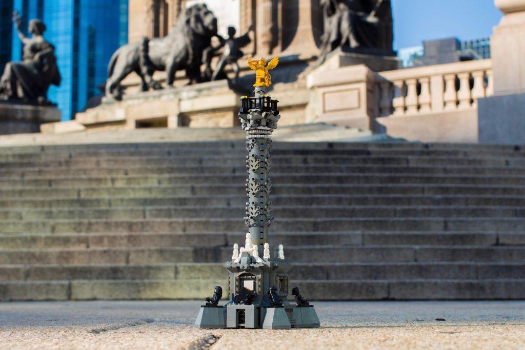 El Ángel de la Independencia en Lego