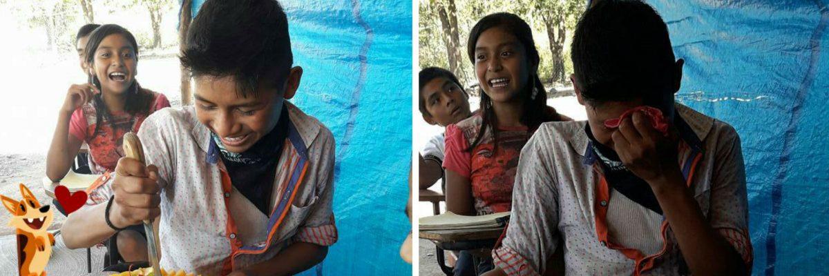 #Supermaestra: Esta mexicana le dio el mejor regalo a su alumno: su primer pastel de cumpleaños