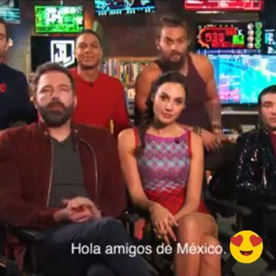 Mensaje para México del reparto de Justice League