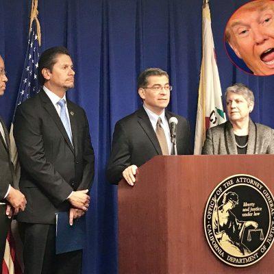 #Tómala: Xavier Becerra le pone la demanda número 26 a Trump