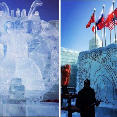 Esculturas mexicanas de hielo