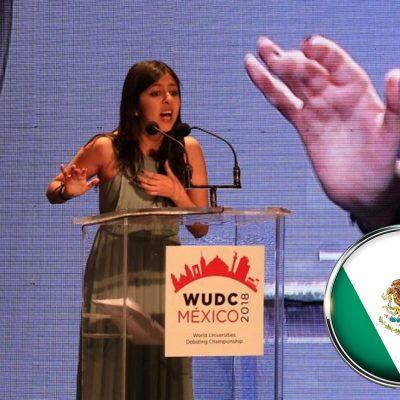 #BienDicho: Una mexicana ganó el campeonato mundial de oratoria