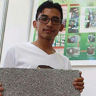 Estudiante mexicano transforma plástico en ladrillos