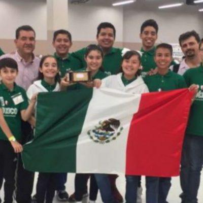 Estudiantes mexicanos conquistan podio en competencia mundial de robótica