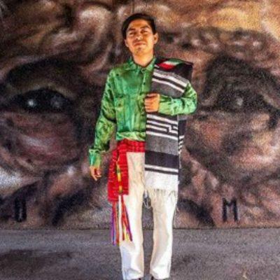 El artista triqui Joel Merino viajará a Europa para impregnar de México las calles