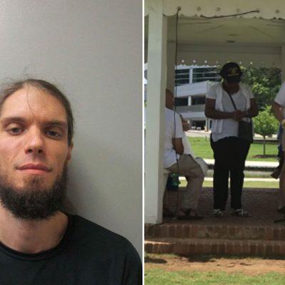 #Arrestado: Maestro racista irrumpe armado en vigilia por niños inmigrantes