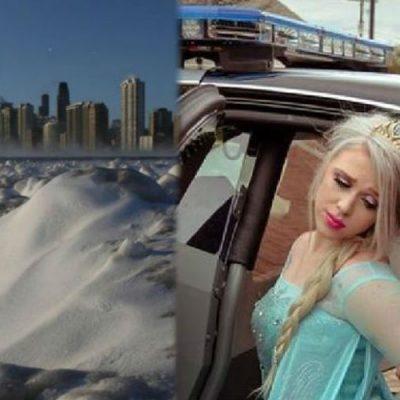 Autoridades de Illinois 'arrestan' a Elsa de Frozen por el intenso frío