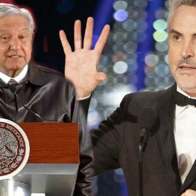 Las palabras de AMLO para Alfonso Cuarón por su triunfo en los premios Oscar