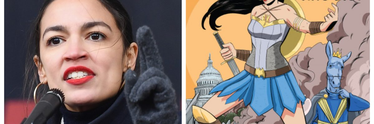 Alexandria Ocasio-Cortez 'se convierte' en la superheroína de los latinos contra Trump