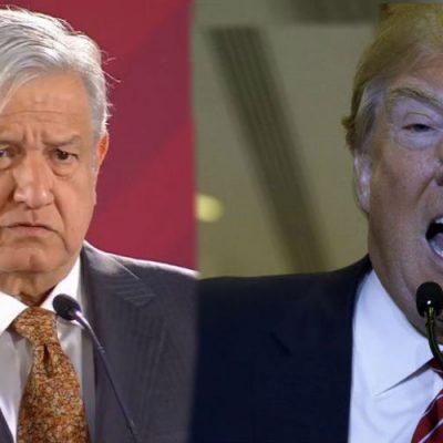 Trump ataca a México y lanza indirecta a AMLO; el presidente le responde