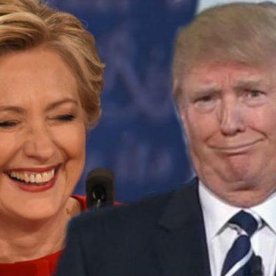 Clinton anuncia que no competirá por la presidencia, Trump se burla y ella responde