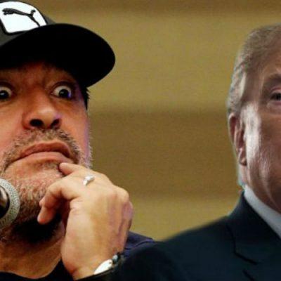 La polémica declaración de Maradona contra Trump por la que sería castigado