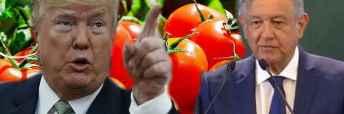 AMLO defiende a mexicanos por impuestos del gobierno de Trump al tomate