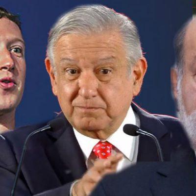 Zuckerberg ayudaría a AMLO para que compita con el empresario Carlos Slim