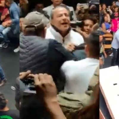Alfredo Adame y Carlos Trejo se pelean en plena conferencia de prensa (VIDEO)