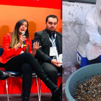 Mexicanos crean artículos de uso diario con ¡colillas de cigarro!
