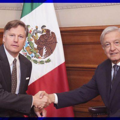 Se reúne AMLO con el embajador de Estados Unidos en México