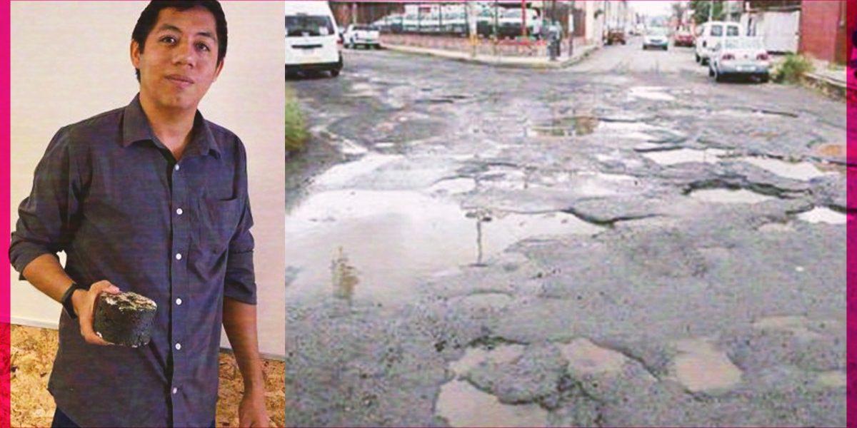 ¡Adiós a los baches! Mexicano crea pavimento que se regenera con agua de lluvia