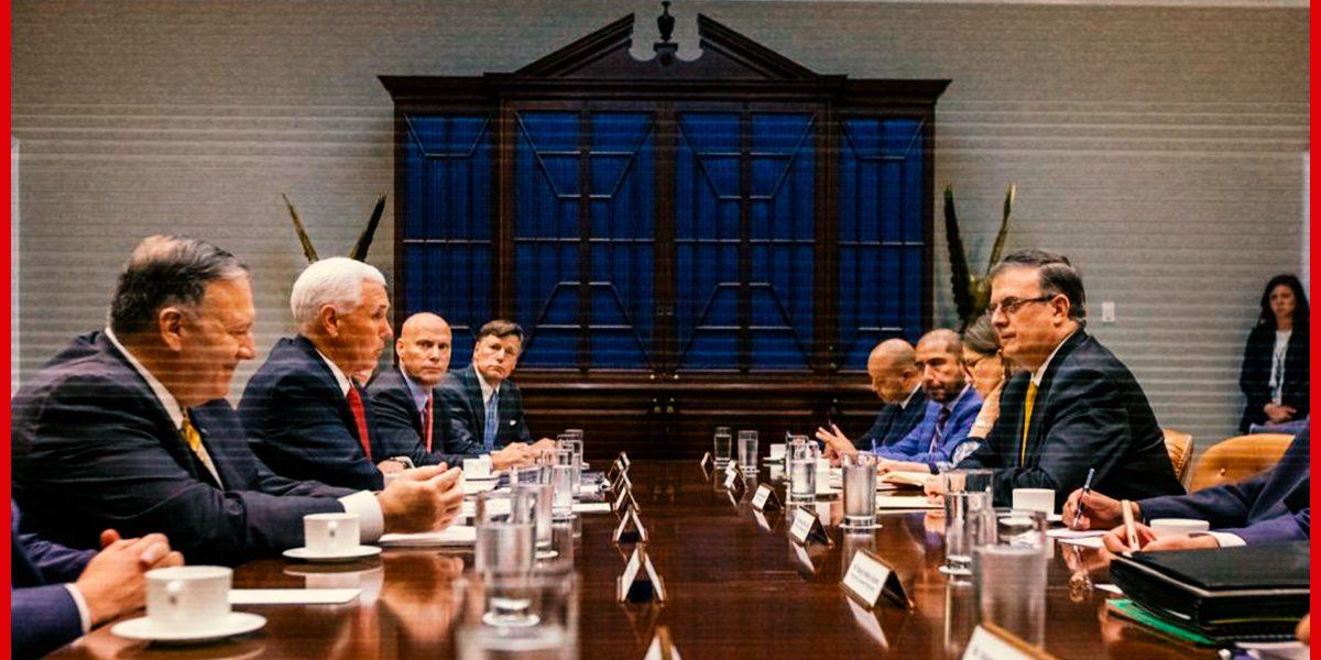 Esto fue lo que pasó en la reunión de Ebrard con los miembros del gobierno de Trump