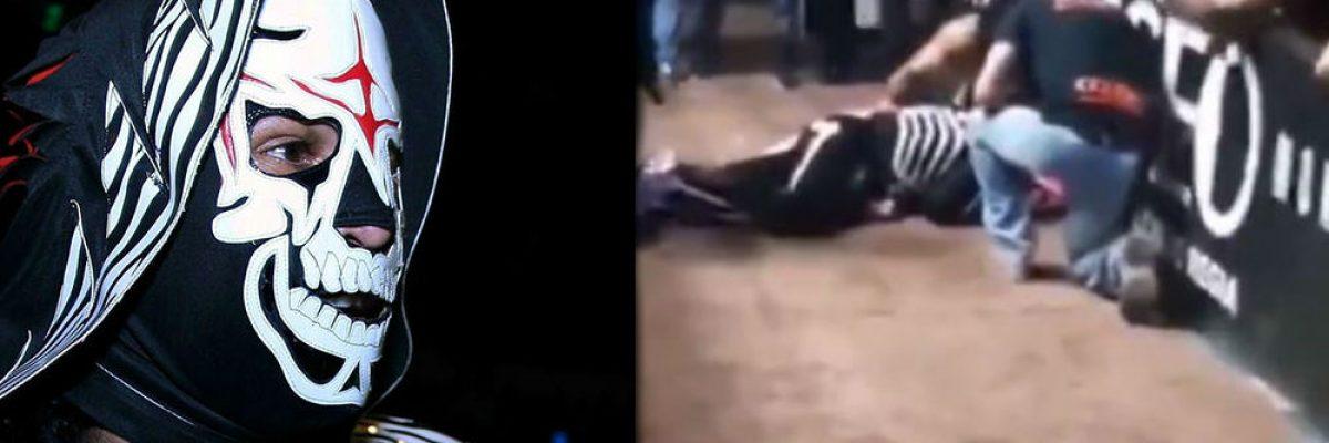 La Parka sufre accidente en plena función de lucha libre